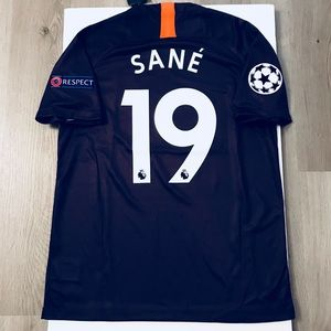 size 40 22c79 a4d4b Leroy Sane # 19 soccer jersey Manchester City NWT